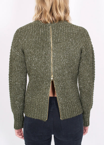 By The Fire Zip Sweater
