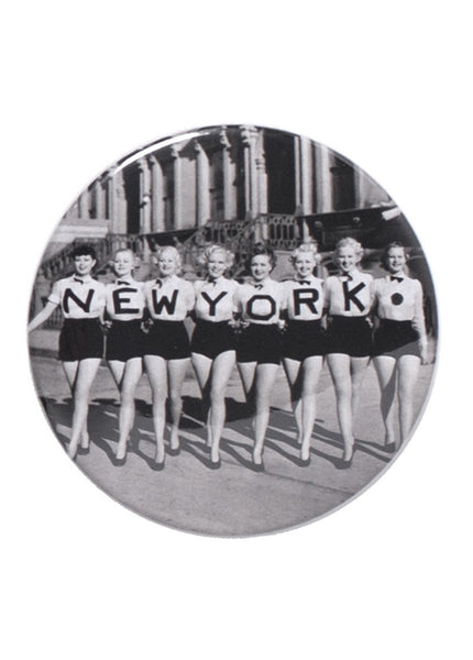 Button Mirror - New York