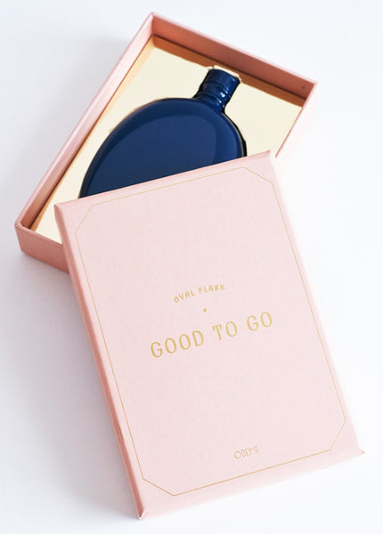 Oval Flask - Navy