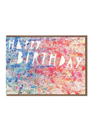 Paint Splatter Happy Birthday Card