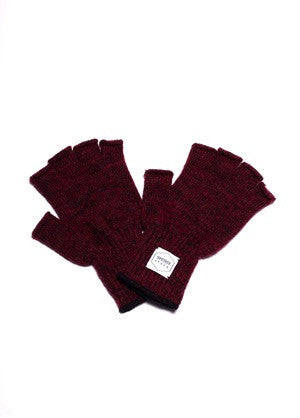 Fingerless Ragg Wool Gloves - Men's
