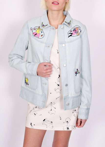 Betty Embroidered Denim Jacket