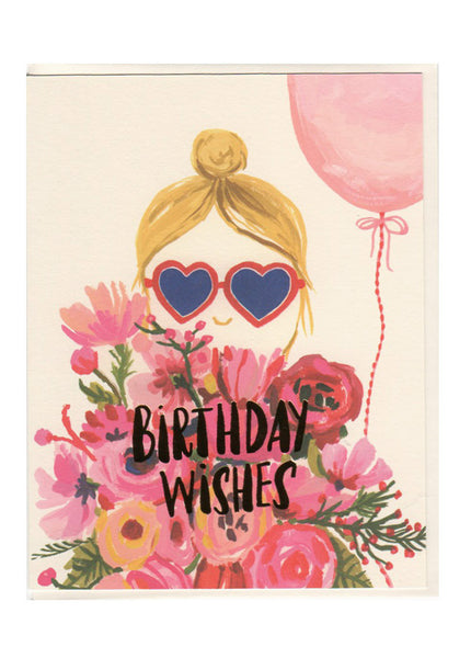 Heart Glasses Birthday Card