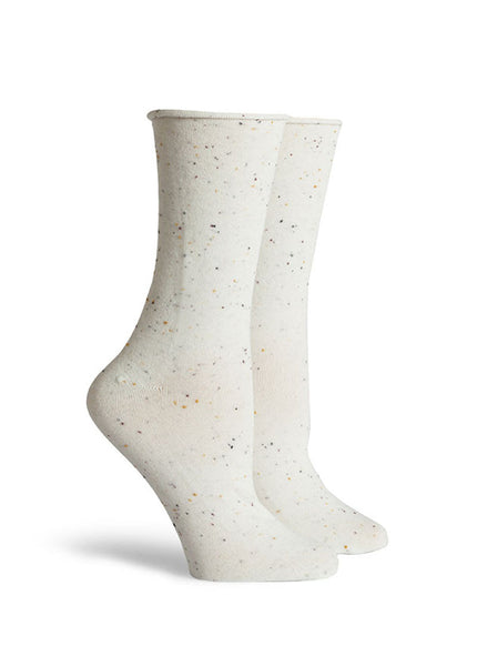 Helena Speckle Roll Top Socks