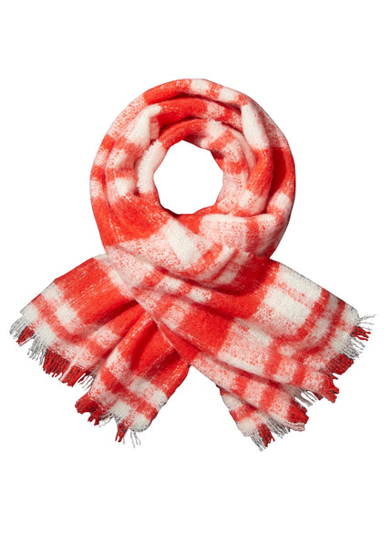 Fluffy Check Scarf