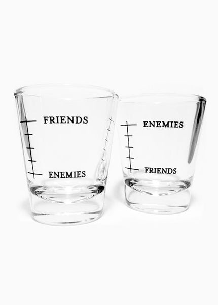 Your Best Shot Glasses: Friends/Enemies