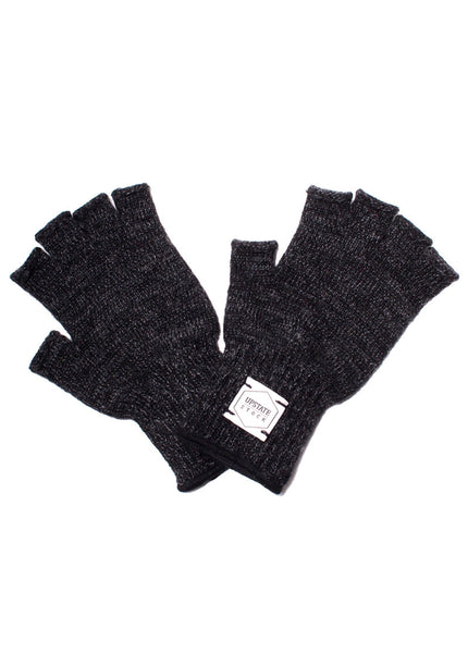 Fingerless Ragg Wool Gloves - Women's