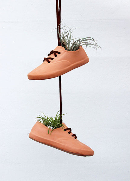 Small Shoe Pot Planter - Terra Cotta/Left
