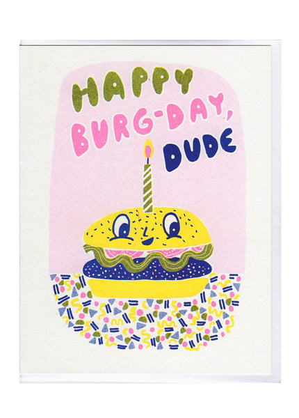 Burger Birthday Card