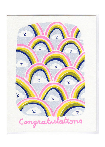 Congratulations Clouds Card