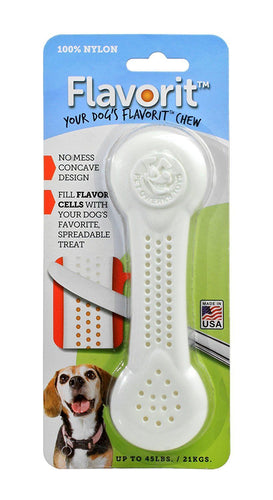 Flavorit Bone Dog Chew Toy for Aggressive Chewers
