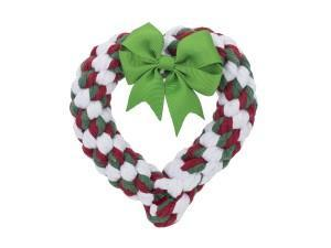 Holiday Heart Rope Heavy Chewer - Jax & Bones