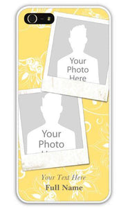 Personalized IPhone Case - Yellow With Your Dog's Pic!