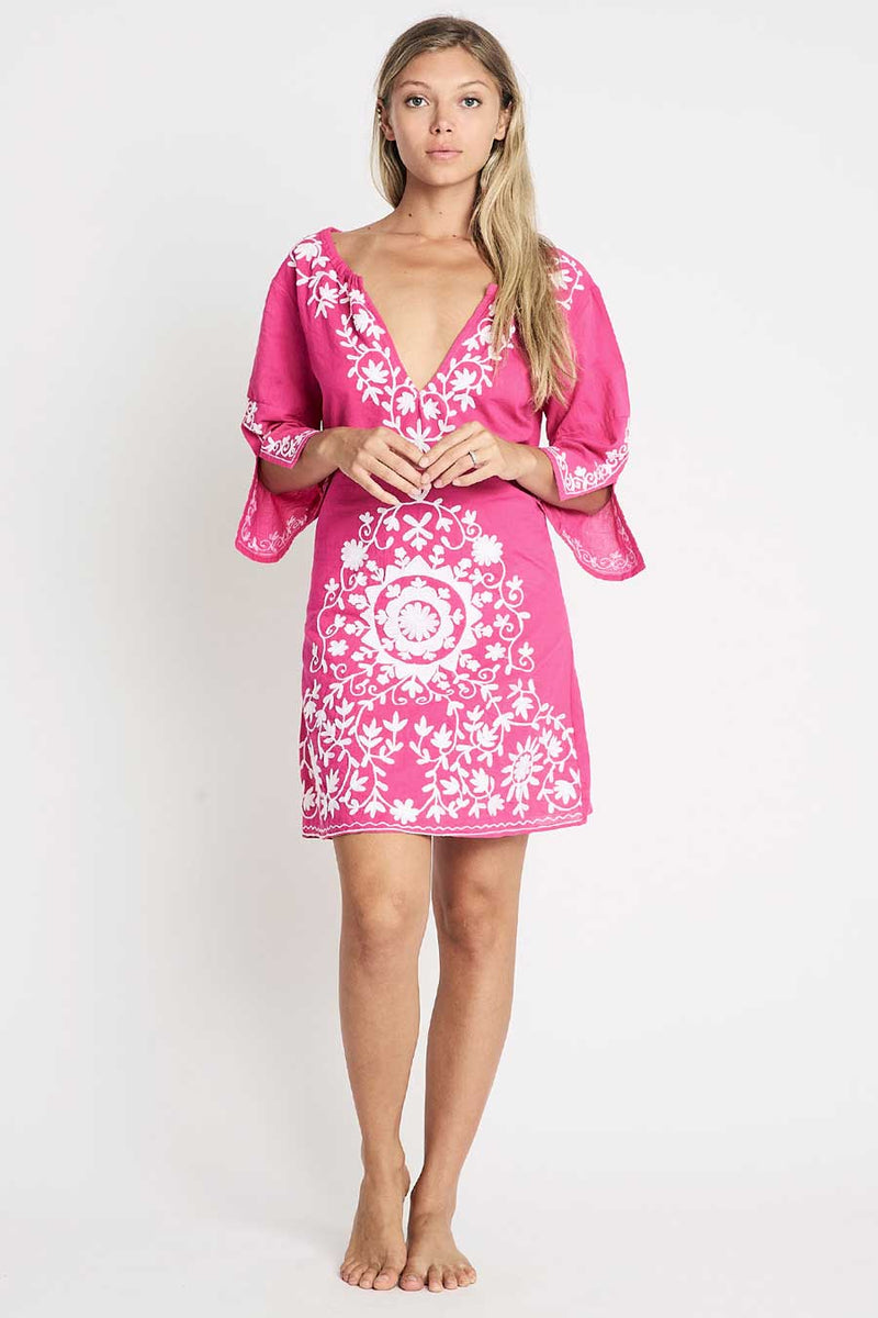 Short beach tunic pink