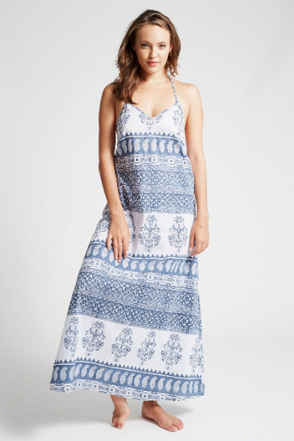 Iman Halter Neck Maxi Dress