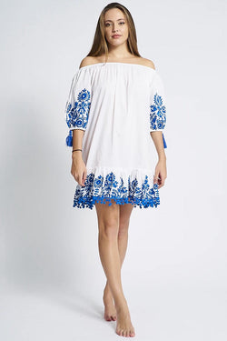 Lali Tunic white/blue