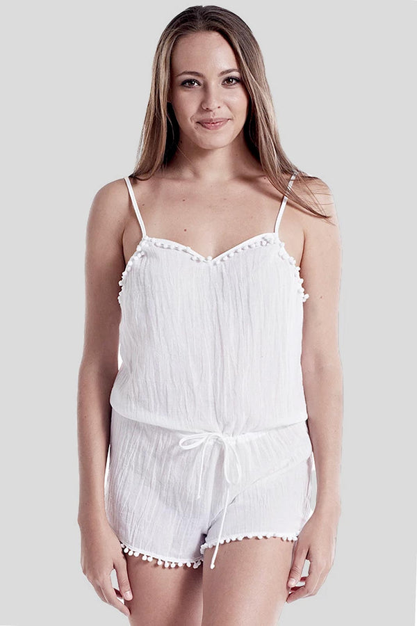 588P DKS short romper white