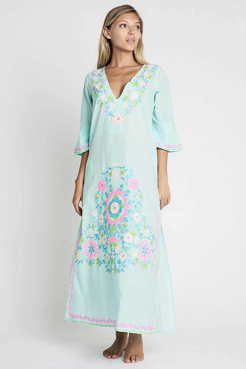 debbie katz long embroidered resort tunic