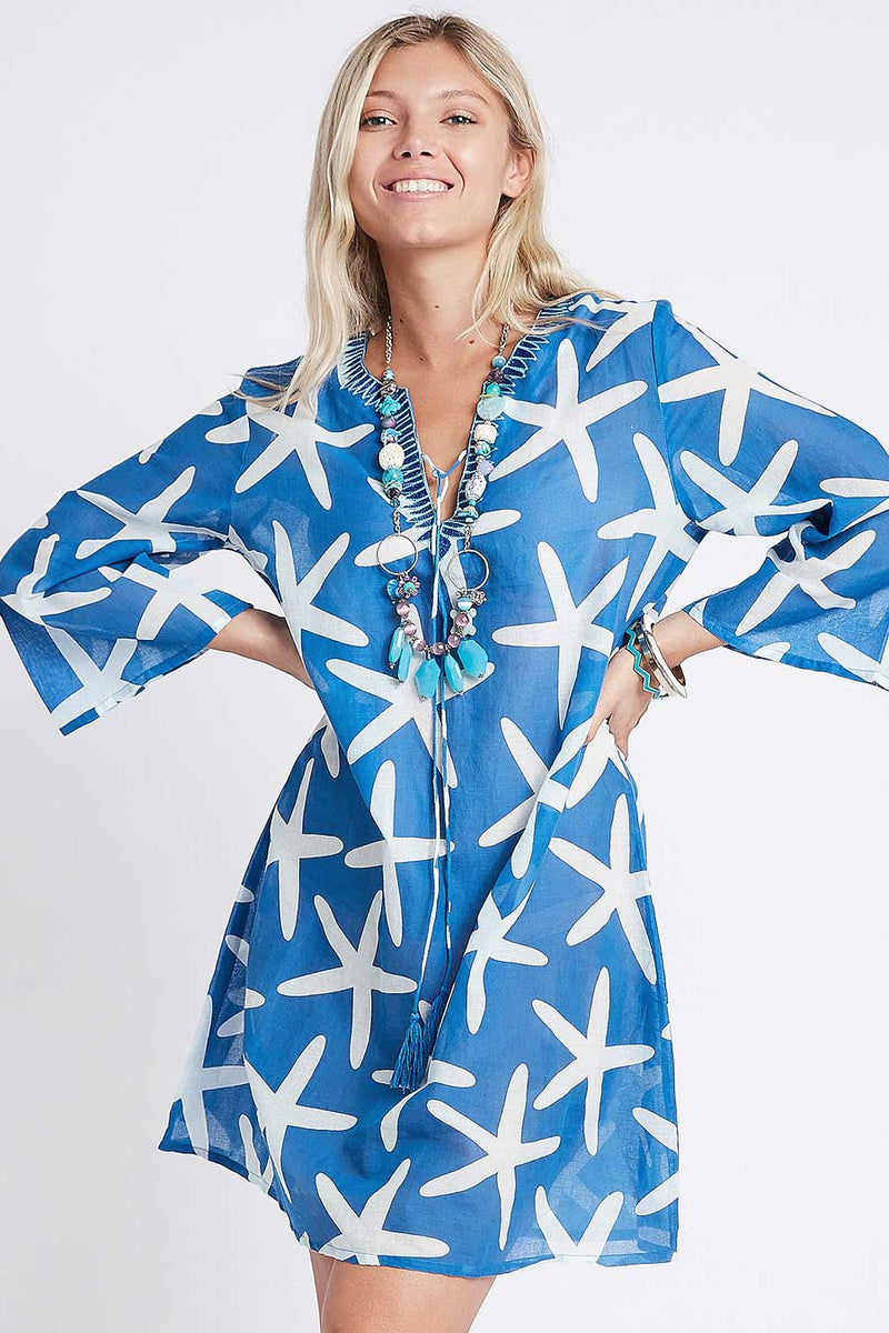 Star Tunic blue
