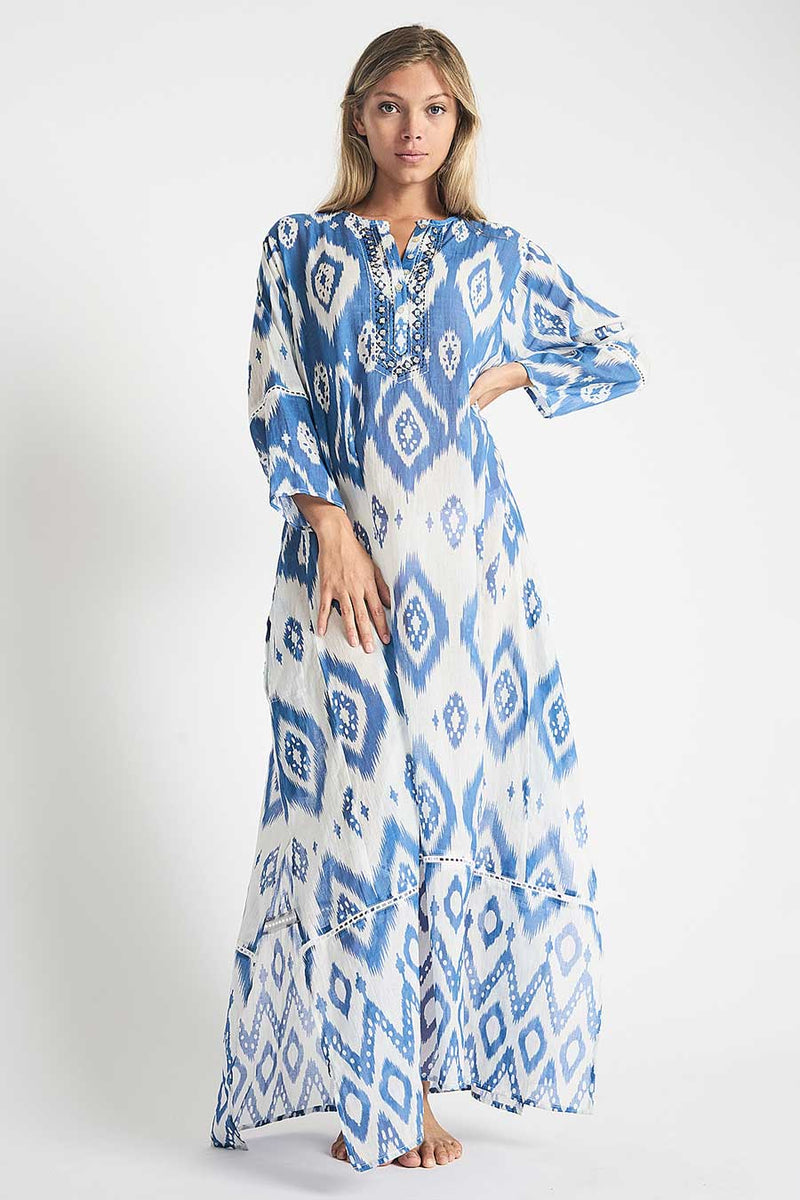 debbie katz halina ikat maxi summer dress
