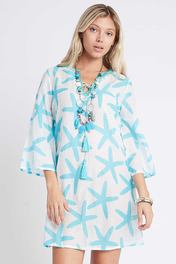 Star Tunic turquoise