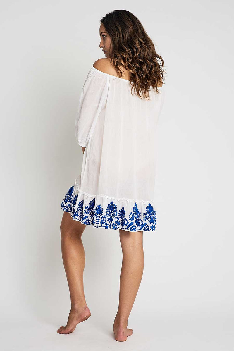 white tunic mini dress