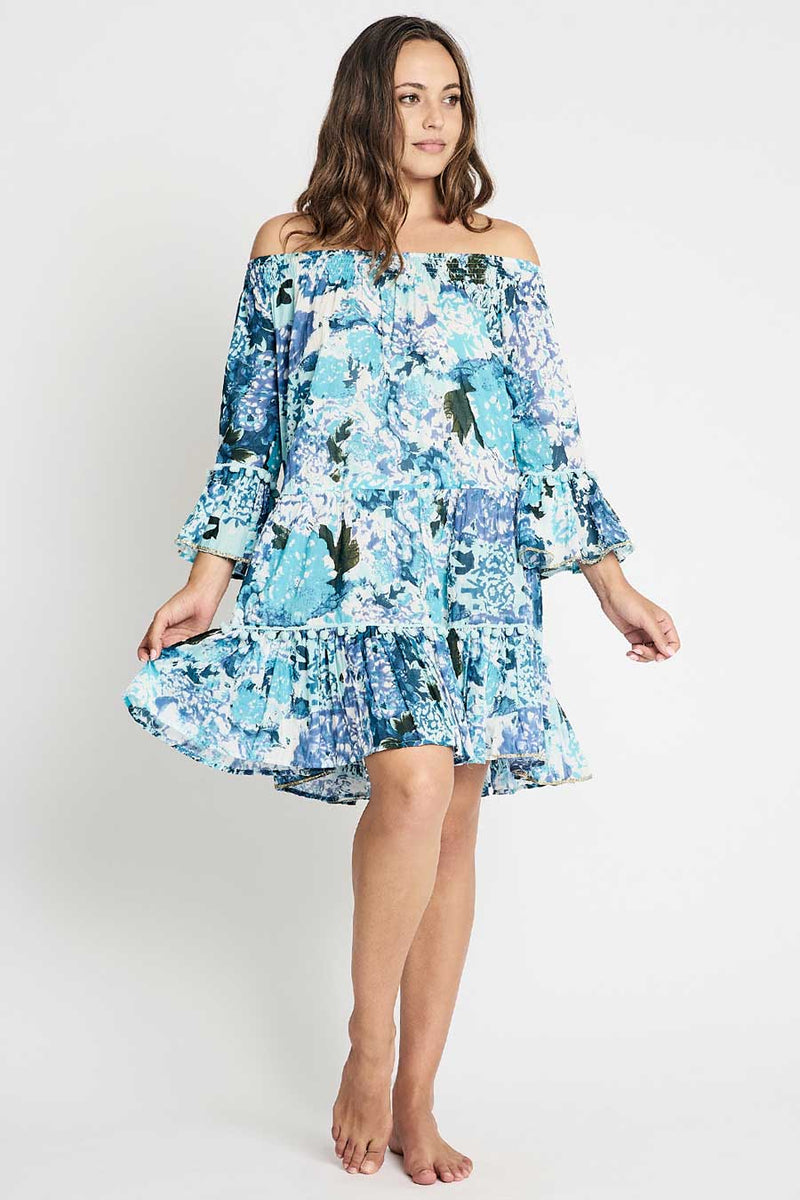 tiered boho tunic dress