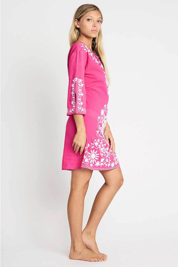 Short resort tunic pink