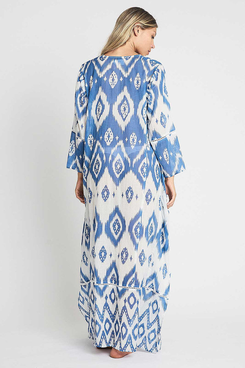 debbie katz halina ikat oversized maxi dress