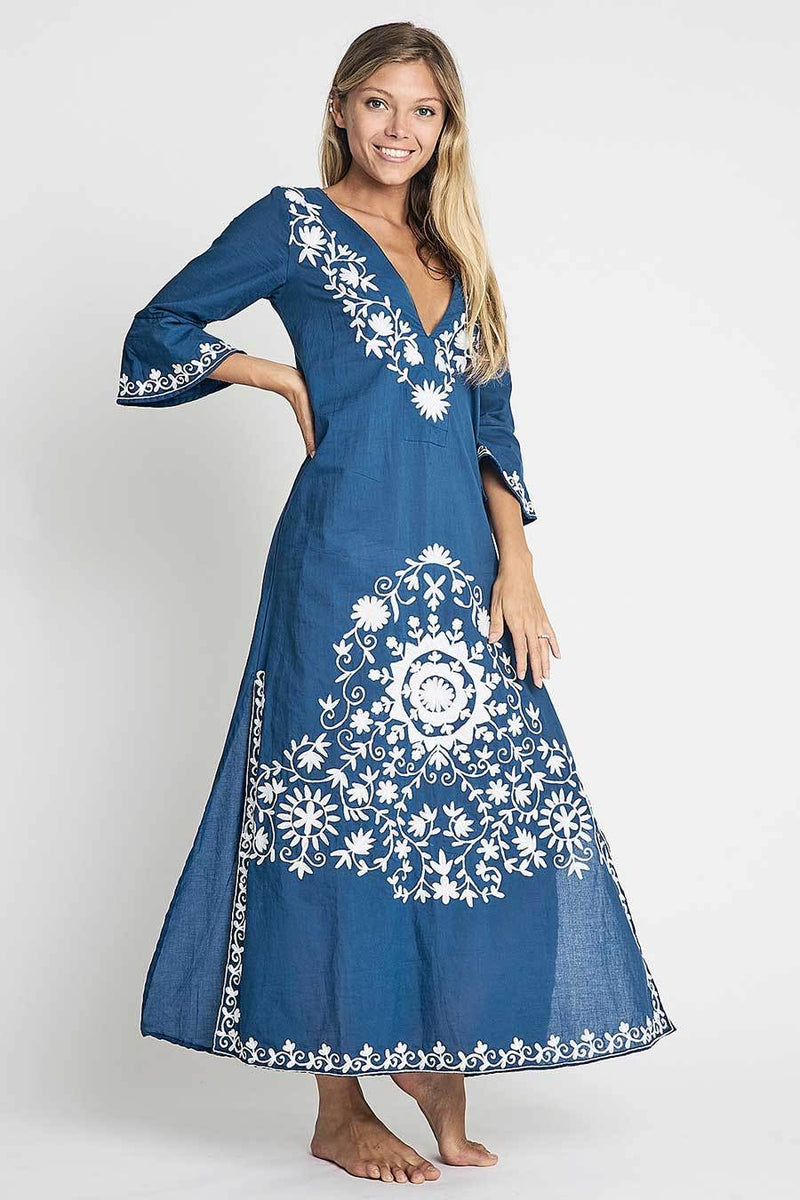 Debbie Katz Taliah bohemian chic tunic maxi summer dress