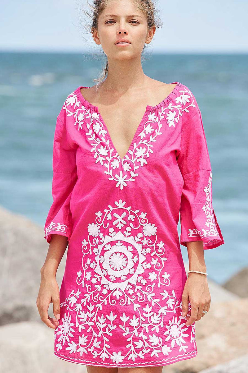pink tunic cruise dress