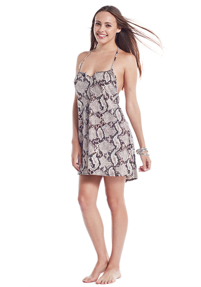 Maconda Snake Print Short Dress