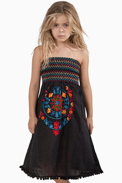 269 Girls Soraya Smock Dress Black