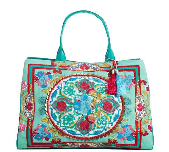 Debbie Katz Boho Beach Bag Mint