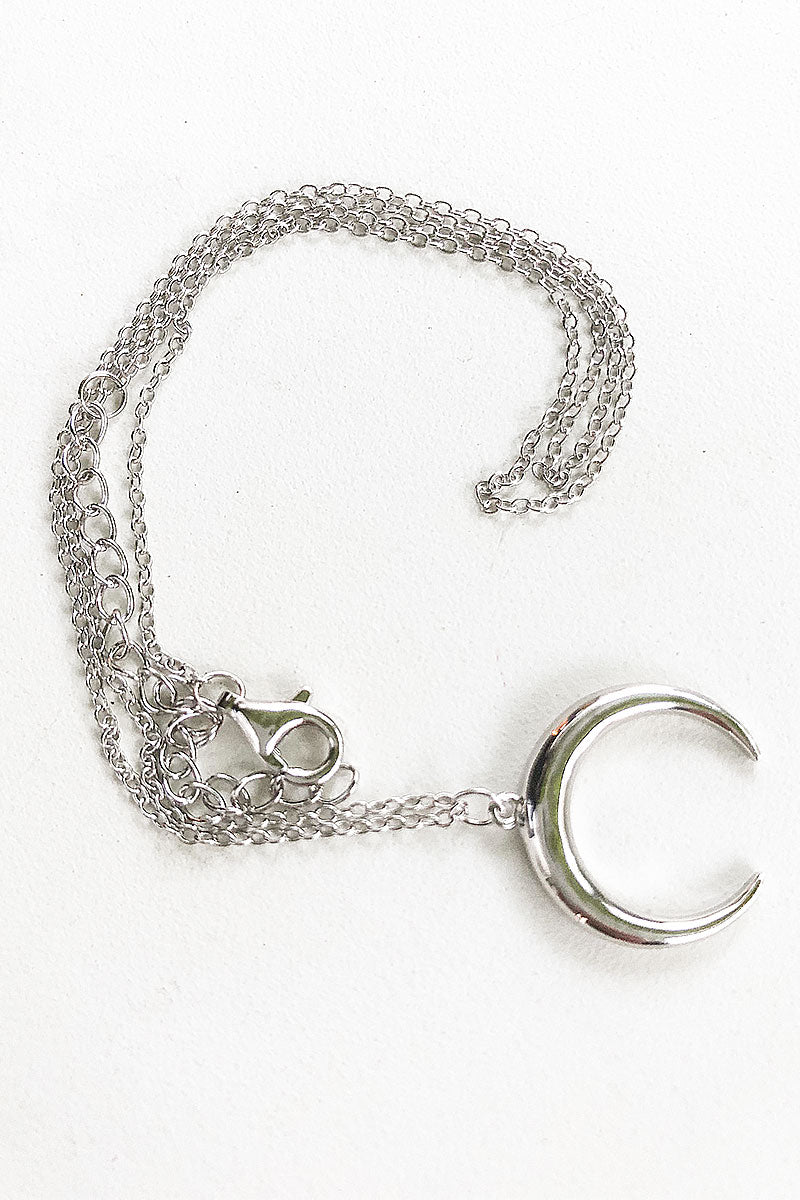 beautiful necklace moon real silver boho jewelry non toxic anti allergic