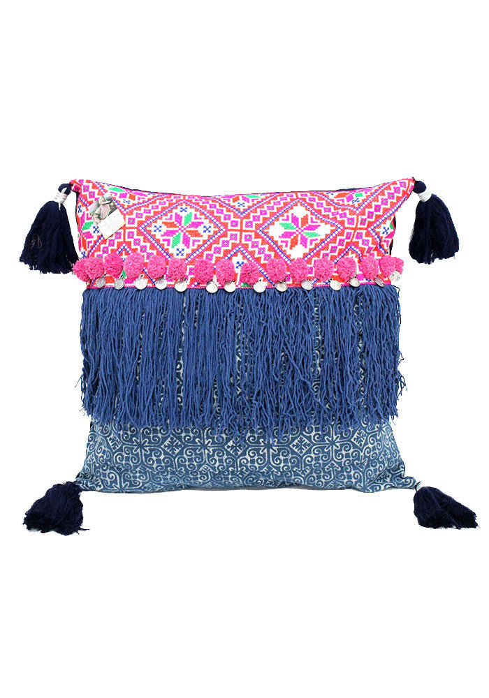 Lia Pillow with tassels-DKH