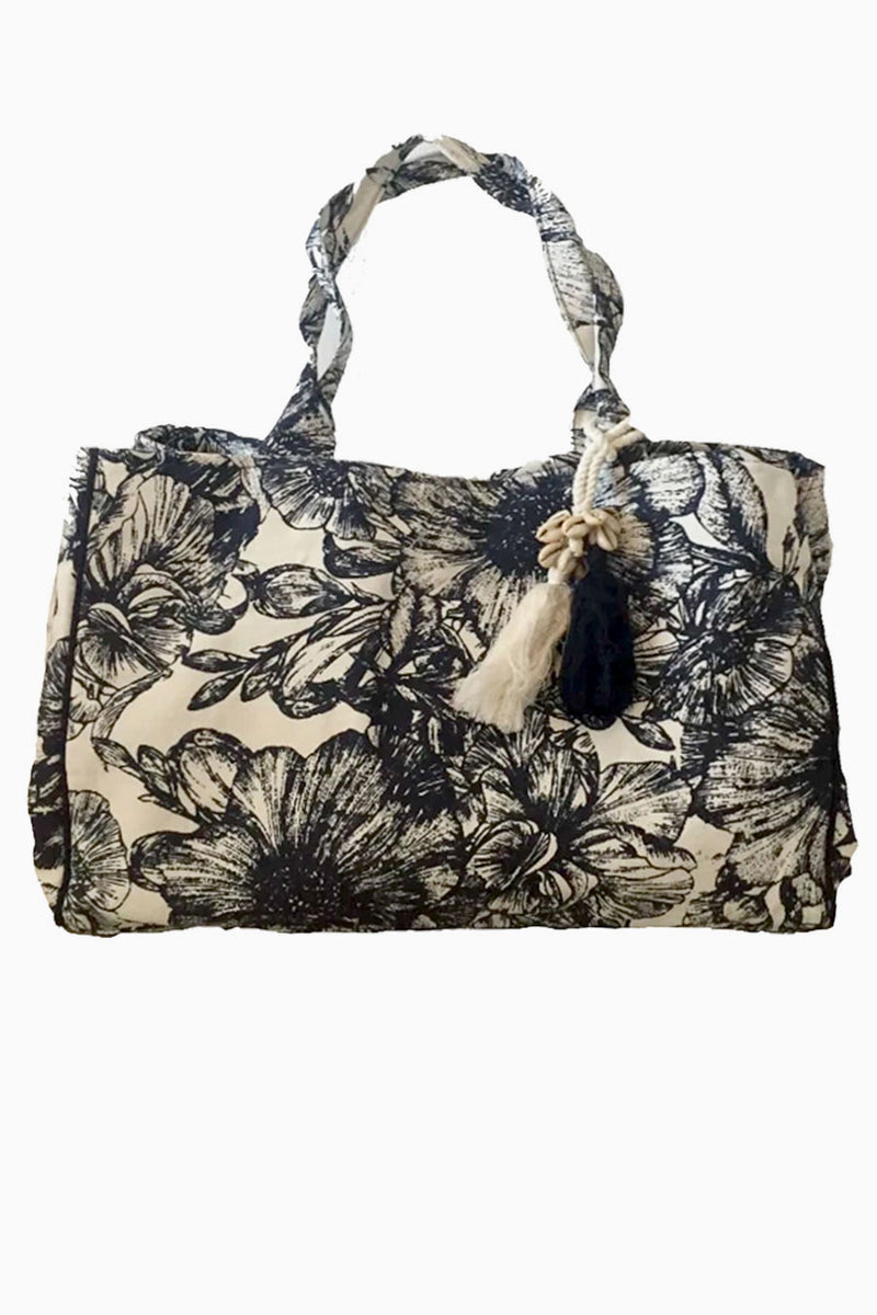 Flower Print Canvas Tote Julie