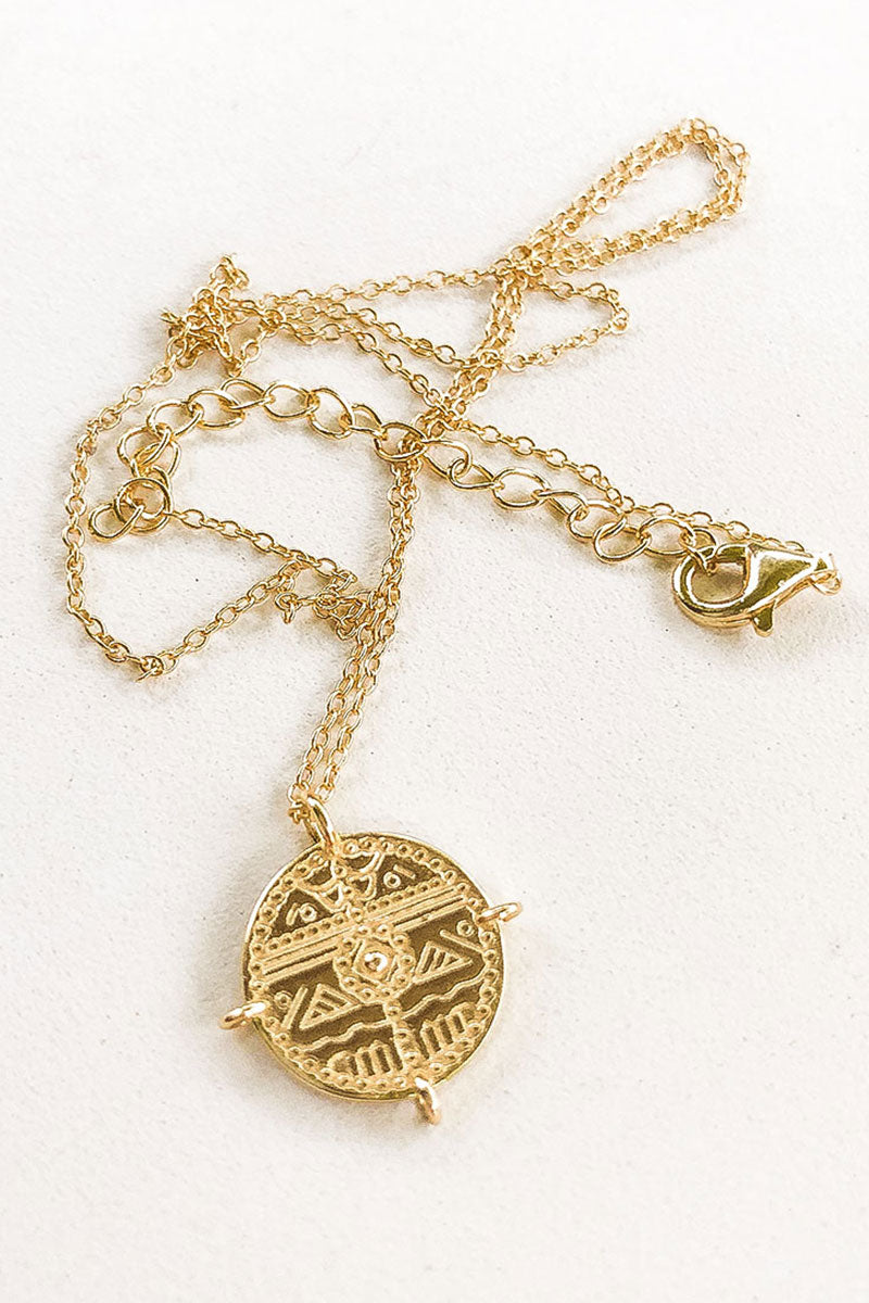 vintage boho jewelry coin pendant real silver gold plated 14k non toxic anti allergic