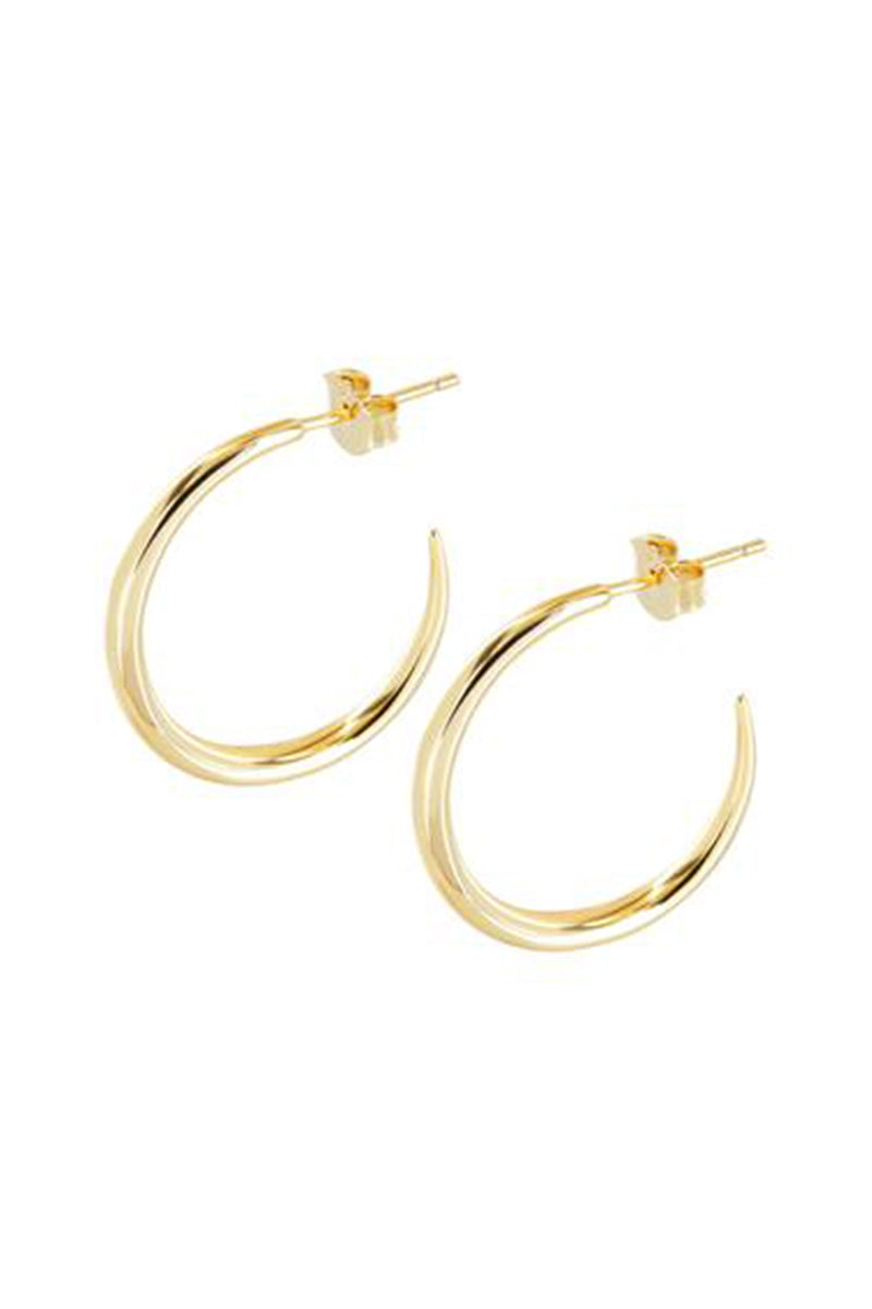 Belle Hoop Earrings Gold