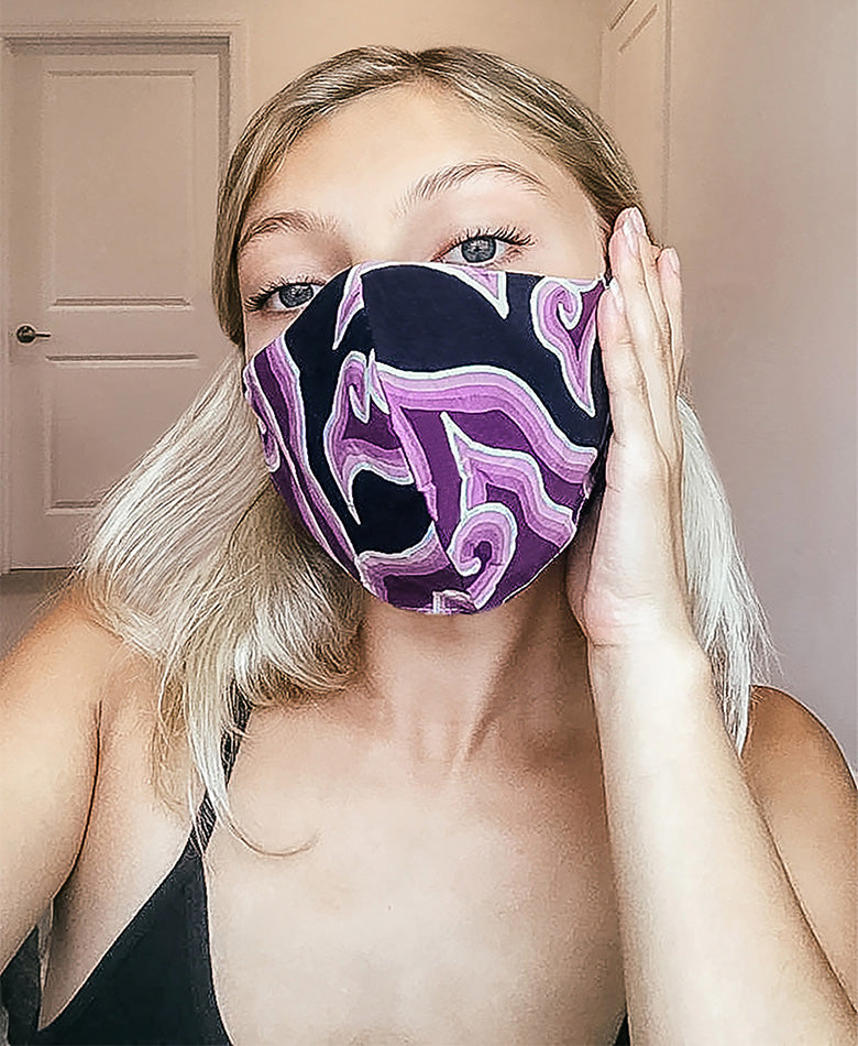 tie dye batik face mask fashion blogger boho summer beautiful women