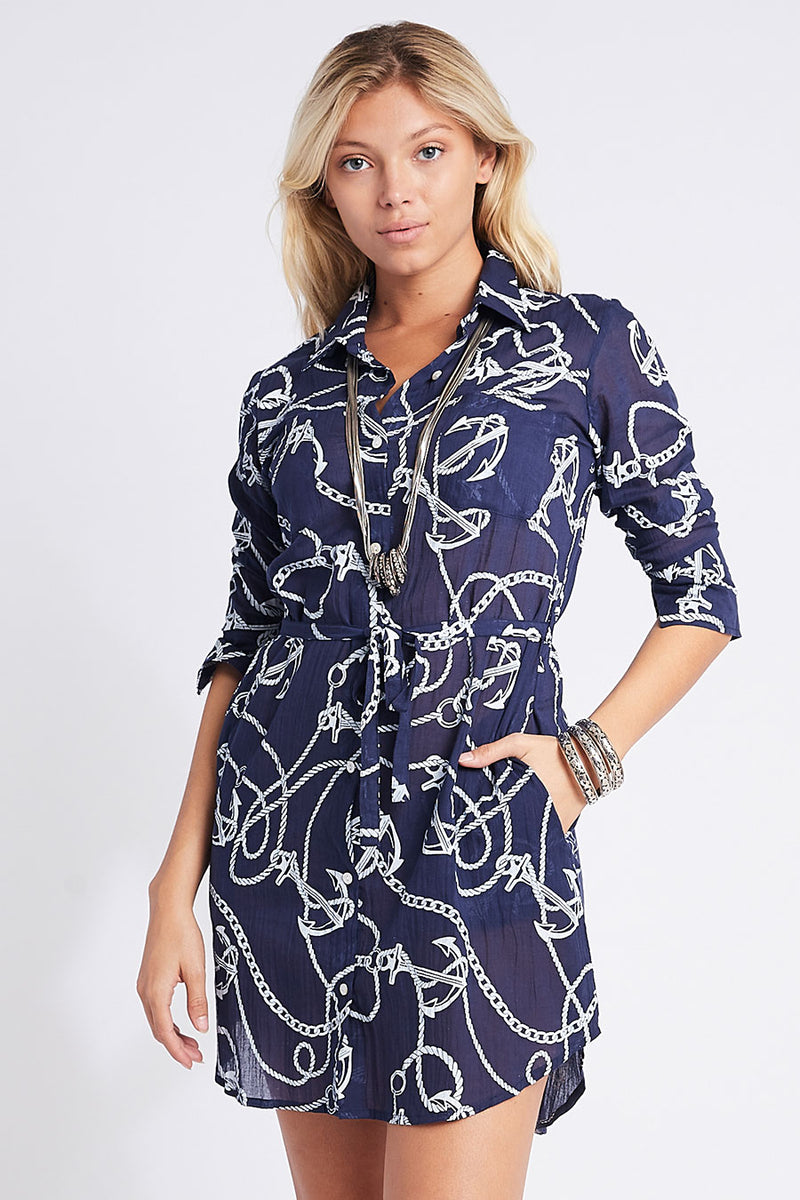 Pippa Shirt Tunic Navy