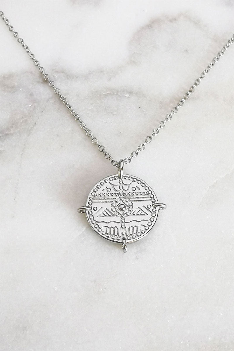 perfect holiday birthday gift woman girlfriend wife coin necklace silver 925
