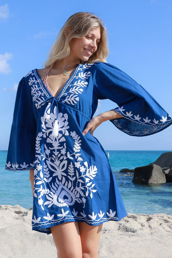 Sharon Tunic Deep Blue
