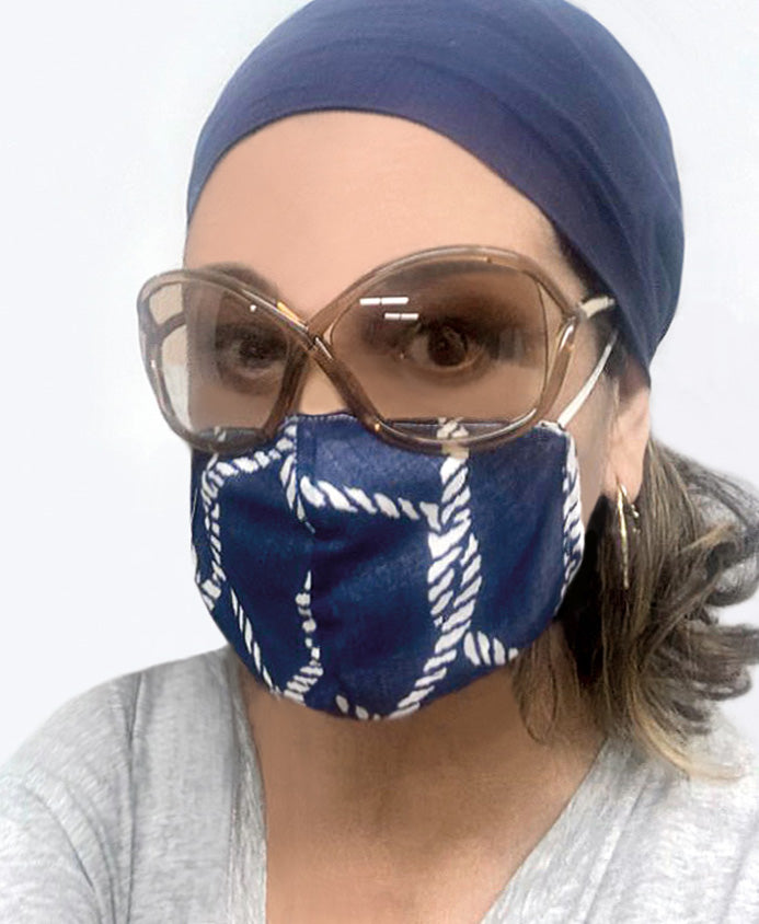Piper Face Mask Navy
