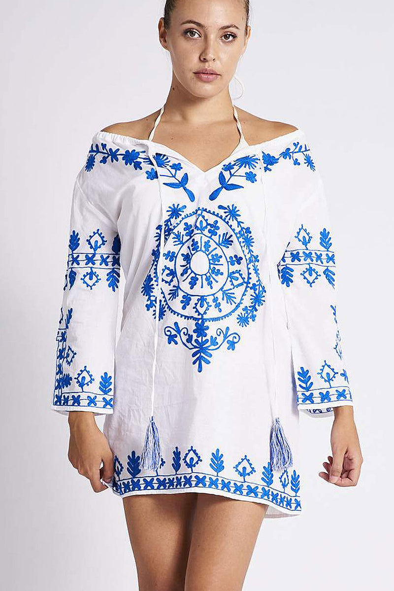 1362 Vida Tunic White/Blue