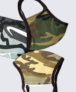 Camouflage Face Mask with Trim