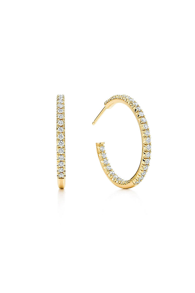 Grace Cubic Zirconia Hoop Earrings Gold