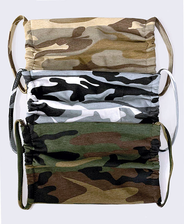 Surgical Style Face Mask Camouflage