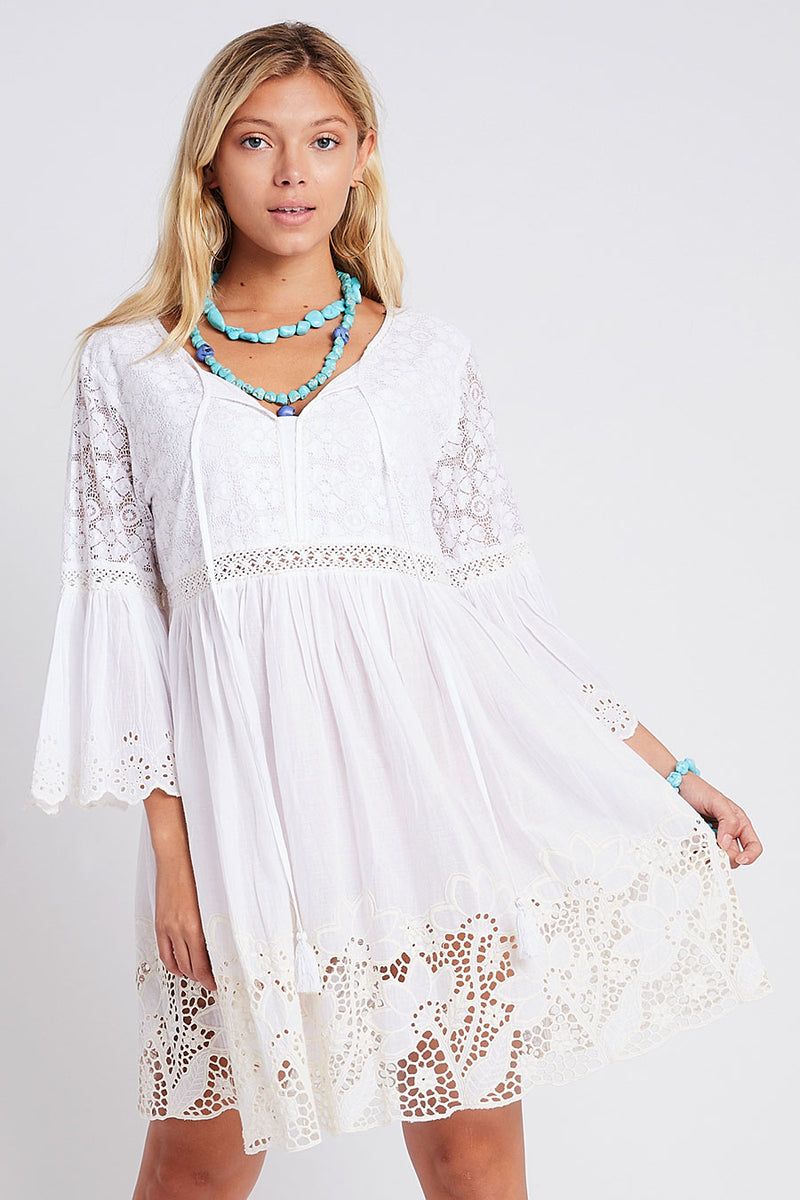 Eve Lace Tunic White