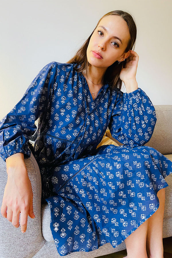 Sia Tiered Tunic Blue